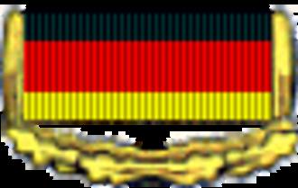 Patriotic Order of Merit - Image: Patriotic Order of Merit GDR ribbon bar gold