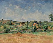 Paul Cézanne - The Bellevue Plain, also called The Red Earth (La Plaine de Bellevue, dit aussi Les Terres Rouges) - BF909 - Barnes Foundation.jpg