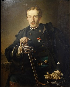 Paul Déroulède - French Army Lieutenant Paul Déroulède, painted in 1877 by Jean-Francois Portaels.