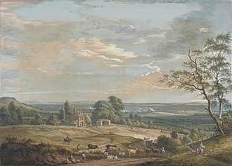 Paul Sandby - Image: Paul Sandby A Distant View of Maidstone, from Lower Bell Inn, Boxley Hill Google Art Project