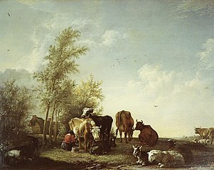 Landscape with Cattle and a Milkmaid