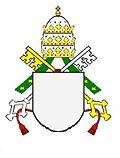 Päpstliches Wappen mit Tiara