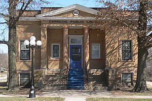 National Register of Historic Places listings in Pawnee County, Nebraska - Image: Pawnee City library from W 1