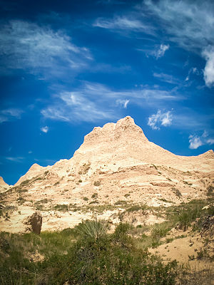 Weld County, Colorado - Rock formation near the Pawnee Buttes.