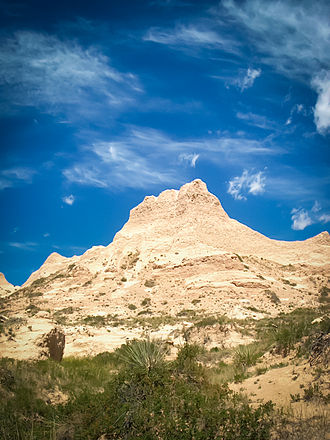 Weld County, Colorado - Rock formation near the Pawnee Buttes