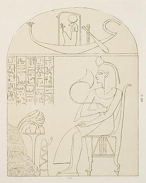 Piankh - Funerary stele of Piankh, drawn by Auguste Mariette.