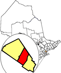 Location in the Region o Peel, in the Province o Ontario