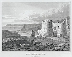 Pen arth castle, Glamorganshire