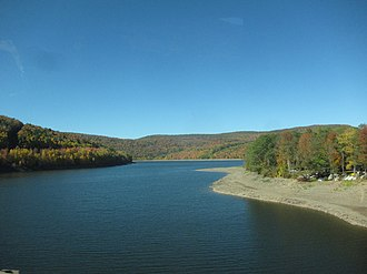 Pepacton Reservoir - Pepacton reservoir at Route 30 bridge