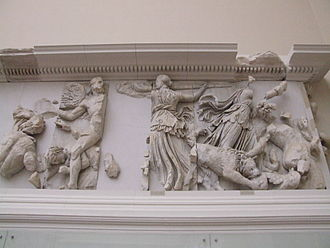 Asteria (Titaness) - Asteria and Phoebe on the Pergamon Altar.