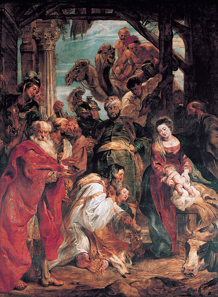 Peter Paul Rubens was the great Flemish artist of the Counter-Reformation. He painted Adoration of the Magii in 1624. Peter Paul Rubens - The Adoration of the Magi - WGA20244.jpg