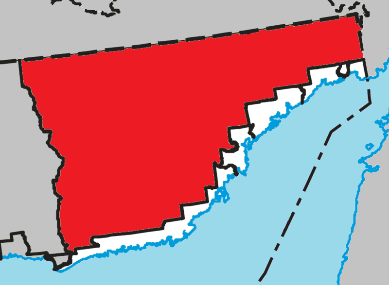Location within Le Golfe-du-Saint-Laurent RCM.