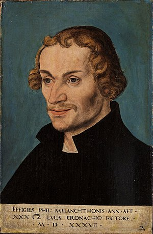 Philip Melanchthon - Portrait of Philip Melanchthon, 1537, by Lucas Cranach the Elder