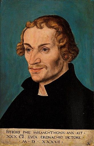 Philip Melanchthon - Portrait of Philip Melanchthon, 1537, by Lucas Cranach the Elder