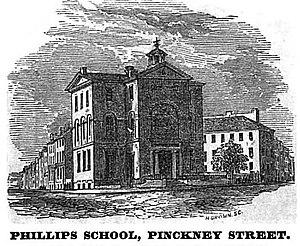 Phillips School - Image: Phillips School Pinckney St Boston Homans Sketches 1851