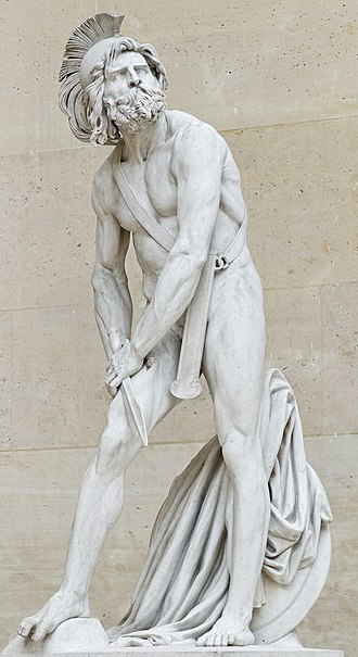 Philopoemen - Philopoemen, hurt by David d'Angers, 1837, Louvre