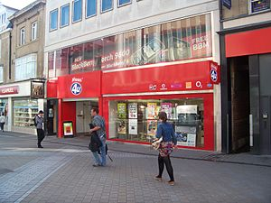 Phones 4u - A branch of Phones 4u on Briggate in Leeds.