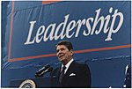 Photograph of President Reagan giving Campaign speech in Texas - NARA - 198551.jpg
