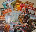 Photographie représentant quelques magazine Relais publiés entre 1969 et 1987.JPG