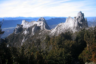 Corbières Massif Mountain range in the Pre-Pyrenees in France