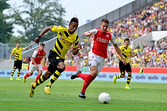 Pierre-Emerick Aubameyang - Aubameyang in action against Rot-Weiss Essen in July 2014