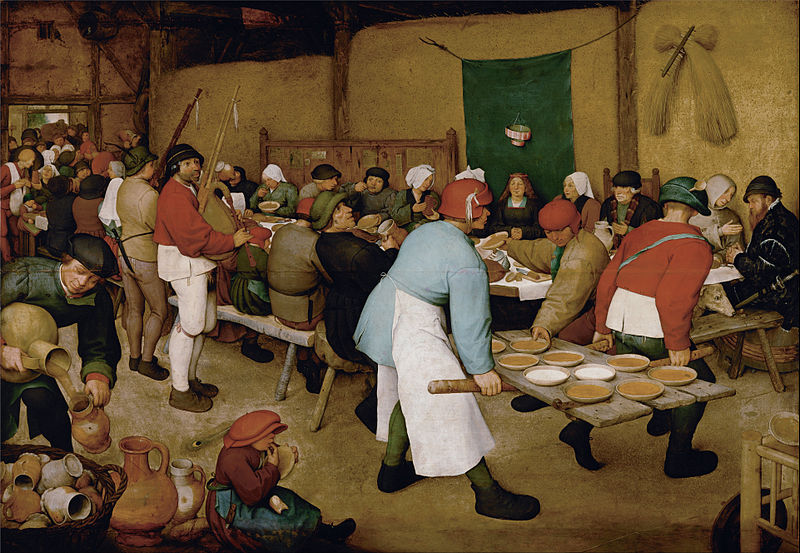 Fichier:Pieter Bruegel the Elder - Peasant Wedding - Google Art Project.jpg