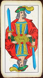 Page of Swords playing card