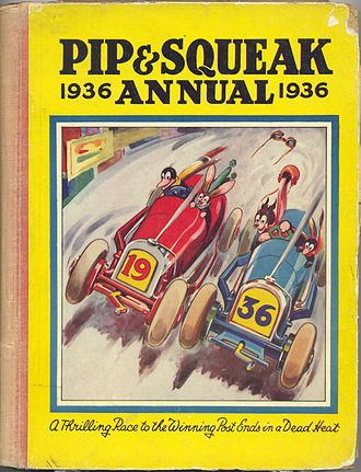 Pip, Squeak and Wilfred - Image: Pip & Squeak Annual 1936