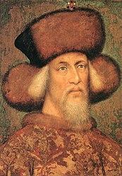 Emperor Sigismund, Portrait of a Bohemian Master (Prague?) (1436/37), previously assigned to Antonio Pisanello (1433)