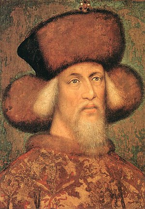 Sigismund, Holy Roman Emperor - Emperor Sigismund, aged approximately 65  (attributed to Pisanello)