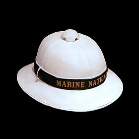 a1d9a9cb726db French Navy pith helmet of the early 20th century.