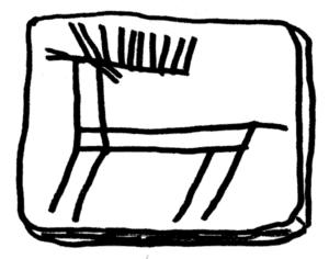 Castro of Vila Nova de São Pedro - Reproduction of a deer carving discovered in the Castro