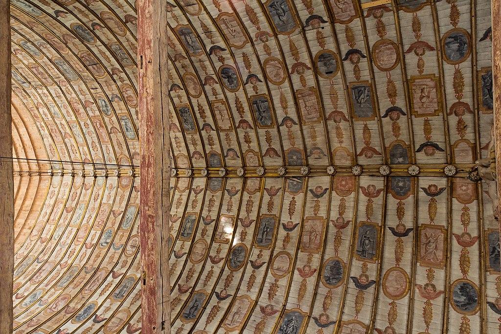 File plafond peint de la nef de l 39 glise saint denis - Plafond a la francaise ...