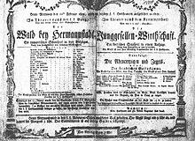 """Theaterplakat des Stückes """"Der Wald bei Hermannstadt"""" (Quelle: Wikimedia)"""