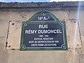 Plaque Rue Rémy Dumoncel - Paris XIV (FR75) - 2021-07-31 - 2.jpg