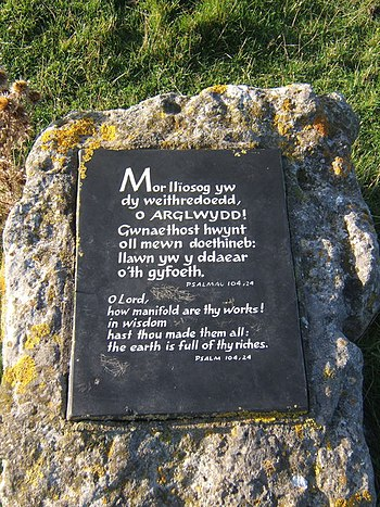 English: Plaque at coastal viewpoint Quoting a...