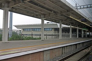 Platform 1 of Tengxian Railway Station (20190421150144).jpg