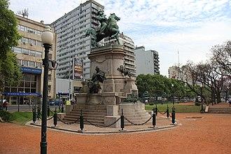 Argentina–Italy relations - Statue of Giuseppe Garibaldi at Plaza Italia, Buenos Aires