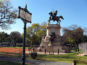 Monument to Giuseppe Garibaldi - Image: Plaza Italia in Buenos Aires