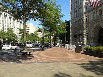 Aleksandra Kasuba - A plaza designed by Kasuba, in front of the Old Post Office Pavilion, now the Trump International Hotel Washington, D.C.