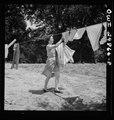 Point Pleasant, West Virginia. Mrs. Fergusen taking clothes off the line LCCN2017855345.tif