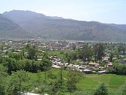 Poonch as seen from the hills