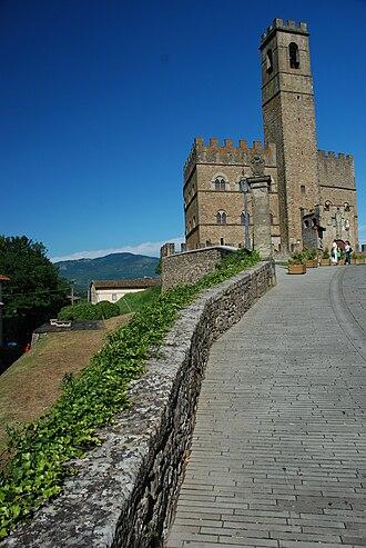 Poppi Castle - Image: Poppi Castle from North