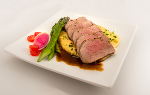 Pork tenderloin - Roast pork tenderloin slices in an entrée