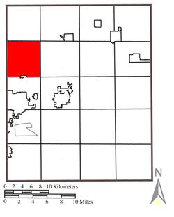 Location within Portage County
