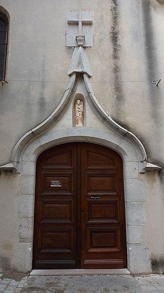 Porte de l'église Saint-André - La Cadière d'Azur.