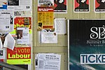 Posters at the University of Essex, June 2010.