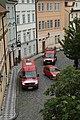 Praha, Malá Strana, hasičské vozy.jpg