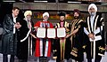 Prakash Javadekar honoring Honoris Causa degrees to the former Chief Justice of India, Justice Jagdish Singh Khehar (Retd.), at the 44th Annual Convocation ceremony of Guru Nanak Dev University, in Amritsar, Punjab.JPG