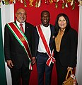 President Bouterse, Clarence Seedorf en First Lady Ingrid Bouterse-Waldring (cropped).jpeg